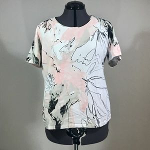 Chico's  Multi-color Short Sleeve T-Shirt